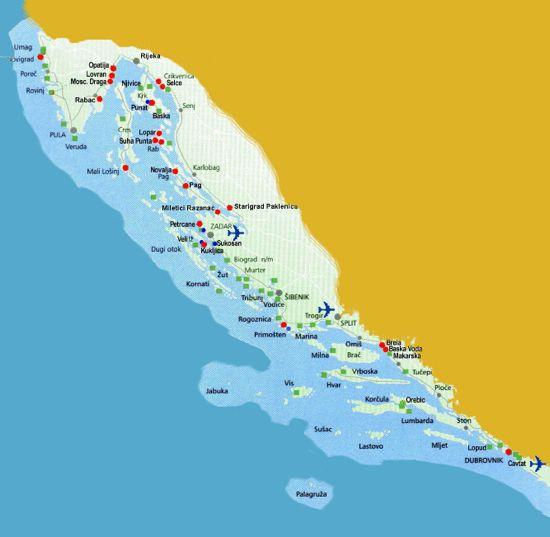 karte kroatische küste