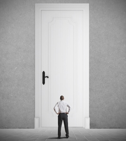 zugefallene Tür öffnen